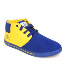 Cefiro Men Casual Shoes Fun03 Royal Blue Yellow CCS0012